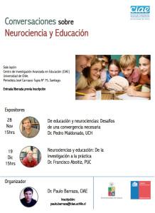Conversaciones sobre neurociencia y educación