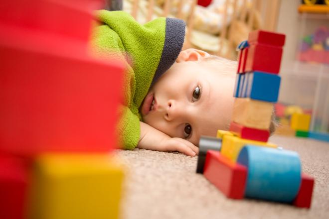 Sad boy for blocks