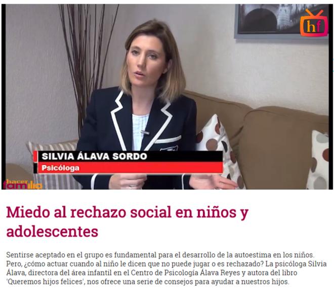 Miedo al rechazo social Silvia Álava Hacer Familia